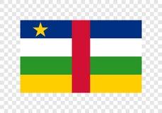 La Repubblica centroafricana - bandiera nazionale illustrazione vettoriale
