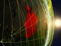 La Repubblica del Chad su pianeta Terra di reti fotografia stock