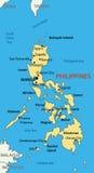 La Repubblica delle Filippine - mappa di vettore illustrazione di stock