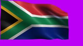 La Repubblica Sudafricana, bandiera del Sudafrica - CICLO senza cuciture video d archivio