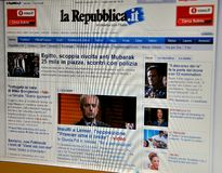 La Repubblica website Royalty Free Stock Images