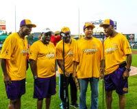 La resa con attori famosi di mi elimina alla partita a baseball Fotografie Stock Libere da Diritti