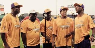 La resa con attori famosi di mi elimina alla partita a baseball Fotografie Stock