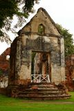 La residencia oficial Lopburi de la casa de Wichayen de la prohibición proporciona el edificio viejo histórico Fotografía de archivo libre de regalías