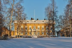 La residenza in Luleå nel paesaggio di inverno Fotografia Stock Libera da Diritti