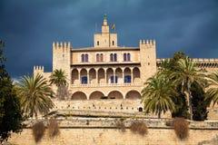 La residenza reale - palazzo di Almudaina Fotografia Stock Libera da Diritti