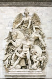 La Resistance de 1814, Sculptural group at the base of Arc de Triomphe de l'Etoile, Paris, France. Royalty Free Stock Photos