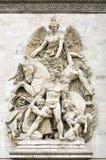 La Resistance de 1814, Sculptural group at the base of Arc de Triomphe de l'Etoile, Paris, France. La Resistance de 1814, Sculptural group at the base of Arc de Royalty Free Stock Photos