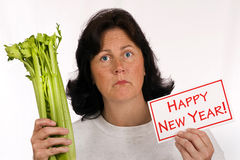La resolución del Año Nuevo de comer sano y de perder el peso Fotografía de archivo