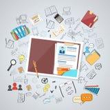 La ressource humaine documente le curriculum vitae illustration libre de droits