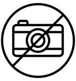 La restriction de caméra ou n'emploient pas l'icône de vecteur d'isolement par caméra qui peut être facilement modifiée ou éditée illustration stock