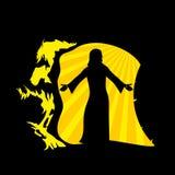 La resurrección del señor y del salvador Jesus Christ Jesus sale del sepulcro libre illustration