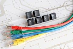 La rete di assistenza del servizio d'assistenza dell'IT cabla il fondo del circuito Immagini Stock Libere da Diritti