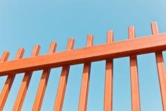 La rete fissa metallica arancione Fotografie Stock Libere da Diritti