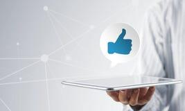 La rete sociale gradisce l'icona Immagini Stock Libere da Diritti