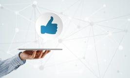 La rete sociale gradisce l'icona Fotografia Stock Libera da Diritti