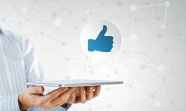 La rete sociale gradisce l'icona Immagini Stock