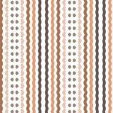 La retro banda beige semplice di Brown allinea il modello del fondo del tessuto Fotografie Stock Libere da Diritti