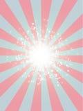 La retro struttura di lerciume dei raggi stars il blu di semitono di rosa del fondo dello starburst Immagine Stock