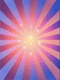 La retro struttura di lerciume dei raggi stars il fondo Fotografia Stock