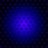 La retro tecnologia astratta circonda il blu ed il nero Immagini Stock Libere da Diritti