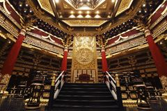 La reunión-casa de emperadores chinos antiguos imagen de archivo