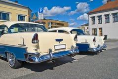 La reunión del coche de la adentro halden (Chevrolet 1955) Fotografía de archivo