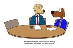 La reunión del helada de la paga debe pasar culpa stock de ilustración