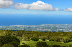 La reunion island coastline, cities and forest Stock Photography