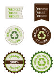 La reutilización recicla reduce los sellos orgánicos Imagen de archivo