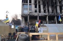 La revolución de Ukrianian se está encendiendo Imagenes de archivo