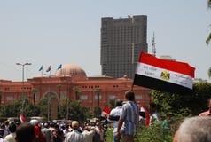 La revolución egipcia - queremos Egipto Imagen de archivo