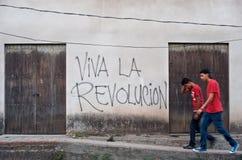 La Revolucion de Viva Photographie stock
