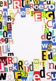 La revue marque avec des lettres le cadre Images libres de droits
