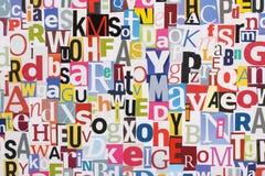 La revue marque avec des lettres le fond Photos stock