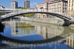 La Ribera Bridge, Bilbao Royalty Free Stock Photography
