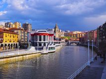 La Ribera Market in Bilbao Stock Images