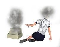 La ricerca rotta motore di ricerca ha rotto l'illustrazione Fotografie Stock Libere da Diritti