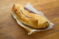La ricotta di recente al forno ed il mascarpone hanno rotolato la torta 2 del formaggio Fotografie Stock