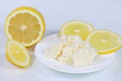La ricotta ed il limone Immagine Stock Libera da Diritti