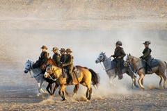 La ricreazione della tassa di cavalleria 100 anni di ANZAC Immagini Stock Libere da Diritti