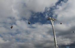 La riga di aria degli emirati cabina di funivia Londra Fotografie Stock