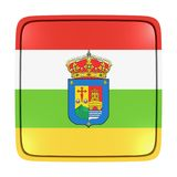 La Rioja flag icon. 3d rendering of a La Rioja spanish community flag icon. Isolated on white background Royalty Free Stock Photography
