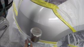 La riparazione rapida della pittura dell'automobile, richiede un'- due ore illustrazione vettoriale