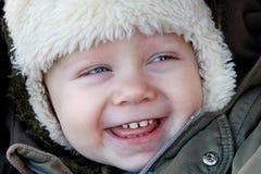 La risata del ragazzo Fotografia Stock