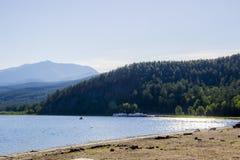 La riserva al lago Baikal Fotografia Stock