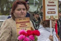La riunione festiva di può 9, 2017, nella regione di Kaluga di Russia Fotografia Stock Libera da Diritti