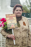 La riunione festiva di può 9, 2017, nella regione di Kaluga di Russia Immagine Stock Libera da Diritti