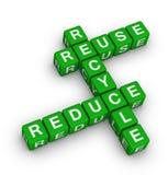 La riutilizzazione, si riduce e ricicla Immagini Stock Libere da Diritti