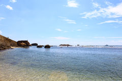 La riva dell'Oceano Indiano e della fortificazione di Galle dell'allerta Immagini Stock Libere da Diritti